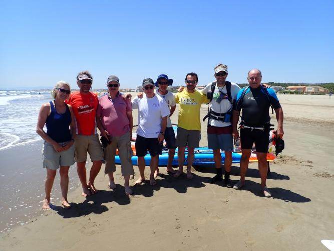 Spontaneous support at Narbonne-Plage, especially thanks to Odile and Gilles, and sailing partner for the day Pablo :)