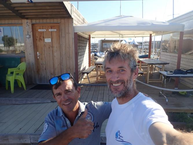 Spontanoeous help - and sharing of dinner - from nightwatchman Fabian at Marseille FFV
