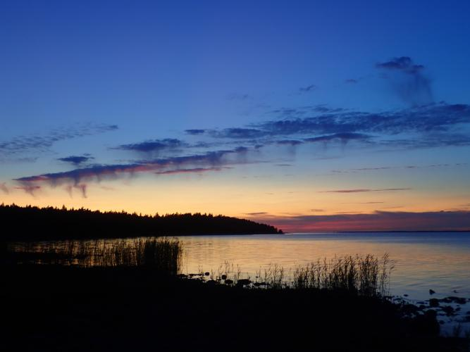 On Saaremaa, missed the last ferry but not the sunset