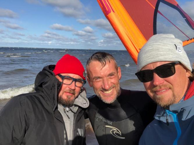 Quick sail before departing Kalajoki - with Juha and Jarno